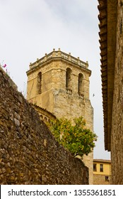 Ancient Cathedral Tower in Besalu, Spain