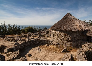 Ancient celtic ruins, famous touristic point in Galicia, Spain. Castro de Santa Tecla
