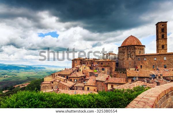 Ancient center of village Volterra, Tuscany, Italy