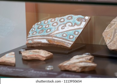 Ancient Ceramic artefacts under the Moors occupation in Tavira city, Portugal.