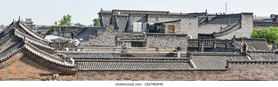 """Ancient Chinese Architecture, Pingyao Ancient City, Shanxi Province, Architectural Site of Ancient Bodyguard Bureau. Translated into English: """"Bodyguards of Bodyguard Bureau"""""""