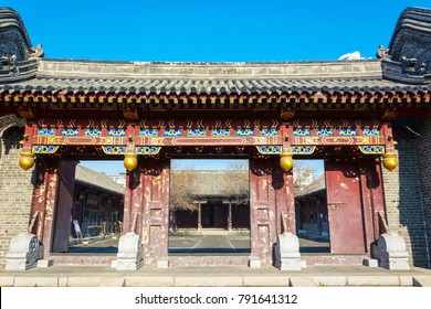 Ancient Chinese building in Daotaifu (Guandao), Built in 1905, repaired and expanded in 2005. Located in Harbin, Heilongjiang, China.