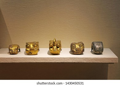 Ancient Chinese Copper Artifacts, closeup of photo
