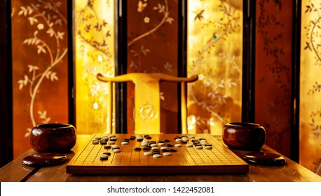The ancient Chinese game of go.