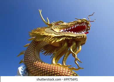 Ancient Chinese Golden Dragon