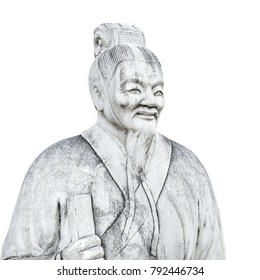 Ancient Chinese statue. Ran Qiu, lived in State Lu in the late Spring-Autumn Period. As a disciple of Confucius. Located in Nanjing, Jiangsu, China.