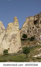 Ancient Christian cave churches  Goreme Open Air Museum,  Cappadocia,  Turkey