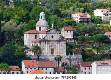 Ancient Church on Hill Near Kotor Montenegro