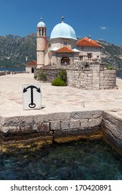Ancient church on small island in Bay of Kotor, Montenegro