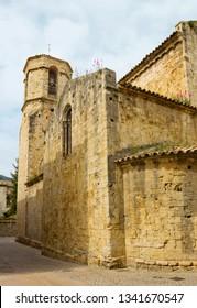 Ancient church of San Vicente de Besalú, Girona province, Catalonia, Spain. The church is a place of worship