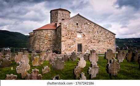 Ancient church of St Peter`s and Paul`s, UNESCO world heritage site, Novi Pazar, Serbia  - Shutterstock ID 1767242186