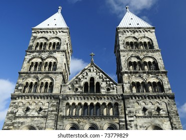Ancient church towers