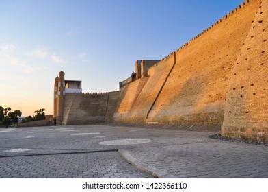 """Ancient citadel in Bukhara """"Ark citadel"""", Uzbekistan."""