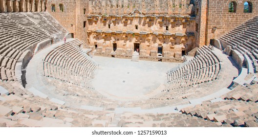 The ancient city of Aspendos with famous theater Aspendos