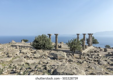 The ancient city of Assos and the Temple of Artemis, Behramkale, Canakkale, Turkey