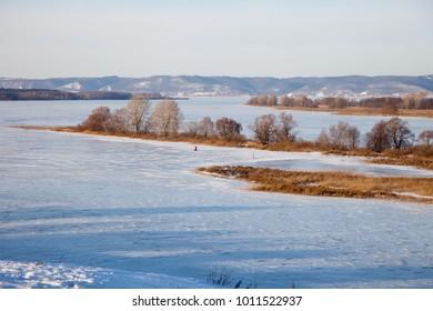 Ancient city of Bolgar, View of the Volga, Tatarstan, Russia
