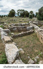 The ancient city of Eretria Euboea Greece. Houses in the West Quarter.
