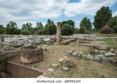 The ancient city of Eretria Euboea Greece.