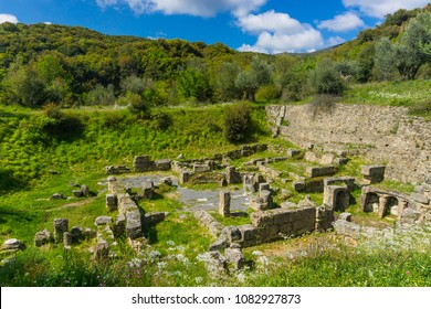 The ancient city Gortys (Gortyna) is located in the valley of the Lousios river in Arcadia of Peloponnese Greece. Ancient Gortys was known for its Temple of Asclepius.