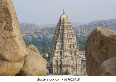 The ancient city of Hampi architecture ruins in India