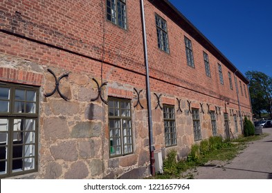 An ancient city, located inside an old fortress. Preserved style and architecture of antiquity. Historical town Fredrikstad.Named after the Danish King Fredericks II. June 19,2018. Fredrikstad,Norway