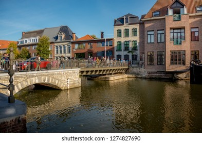 The ancient city of Mechelen. Belgium October 13, 2018. Cityscape.