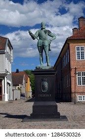 An ancient city. Preserved style and architecture of antiquity. Historical town Fredrikstad.Named after the Danish King Fredericks II. June 19,2018. Fredrikstad,Norway