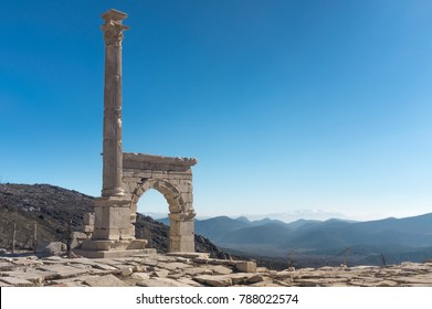 The ancient city of Sagalassos up high in the mountains in Burdur district of Turkey