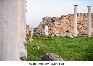 Ancient city of Salamis located in eastern part of Cyprus.