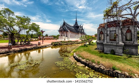 Ancient City, Samut Prakhan, Thailand. The old Siam with most of well know treasure history of Thailand, The highlight of the most famous monument all gathered in one place.