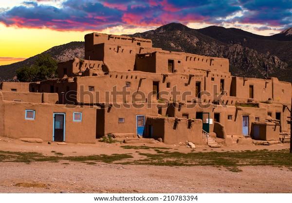 Ancient City of Taos, New Mexico USA.
