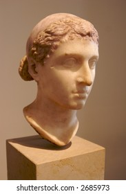 Ancient classical head sculpture in marble