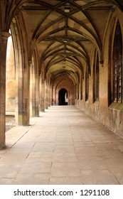 Ancient Cloister, Cambridge University, UK