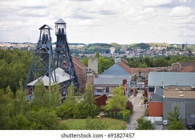 Ancient coal mine in Charleroi, Belgium