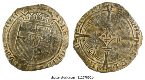 Ancient coin of the King Felipe I. Patard. Coined in Namur. Spanish Low Countries.