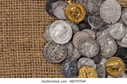 Ancient coin of the Roman Empire.