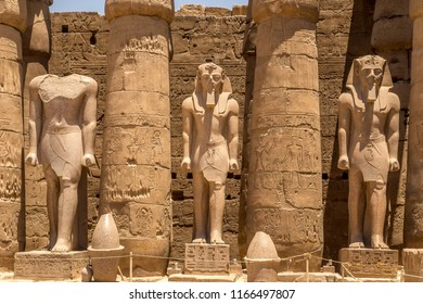 The ancient colossus in the Amenhotep, Luxor, Egypt