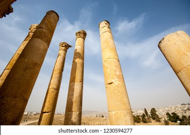 Ancient colums, Jerash, Hashemite Kingdom of Jordan
