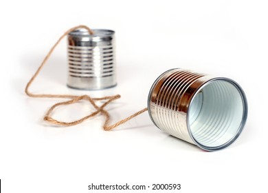 ancient communication - cans connected by string