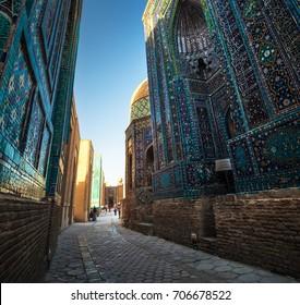 Ancient complex of Shakh i Zinda, Samarkand, Uzbekistan