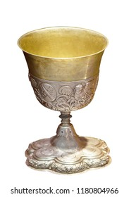 Ancient cup, isolated bowl