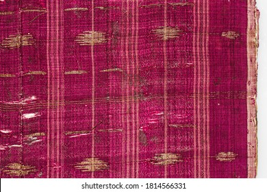 Ancient decorative cloth typical of Aceh, Indonesia. Antiques in the collection of the Pedir Museum.