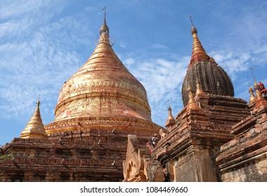 Ancient Dhammayazika Pagoda in Bagan, Mandalay Division of Myanmar.  It was built in 1196 during the reign of King Narapatisithu.