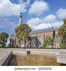 Ancient Dionysius Heikese Kerk, downtown area Tilburg, The Netherlands.