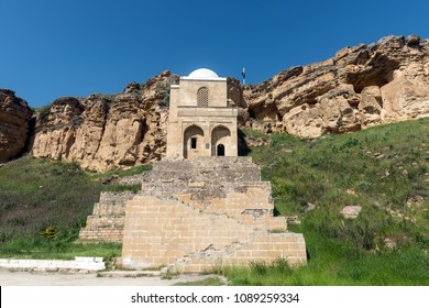 Ancient Diri Baba mausoleum,  14th century, Gobustan city, Azerbaijan