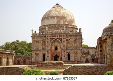 Ancient Dome Bara Gumbad Tomb Lodi Gardens New Delhi India