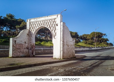 Ancient door of the Bouaraguia  cemetery in Tangier, Morocco