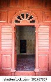 Ancient door open