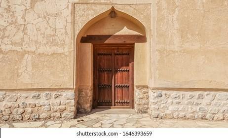 Ancient Door with Ornaments in Oman