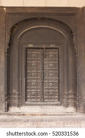 Ancient door in Red Fort Lahore